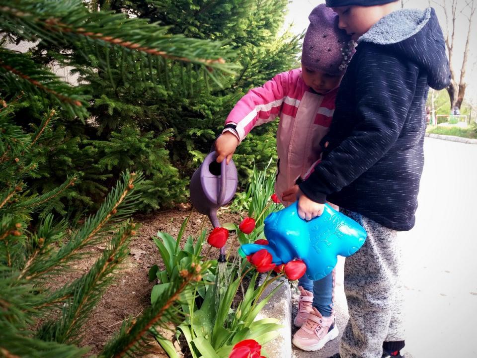 virágot ültettünk